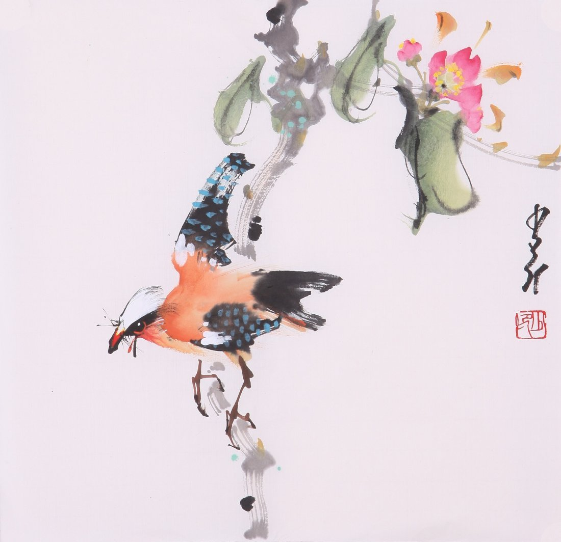 8007: Very fine chinese painting by Zhao Shaoang