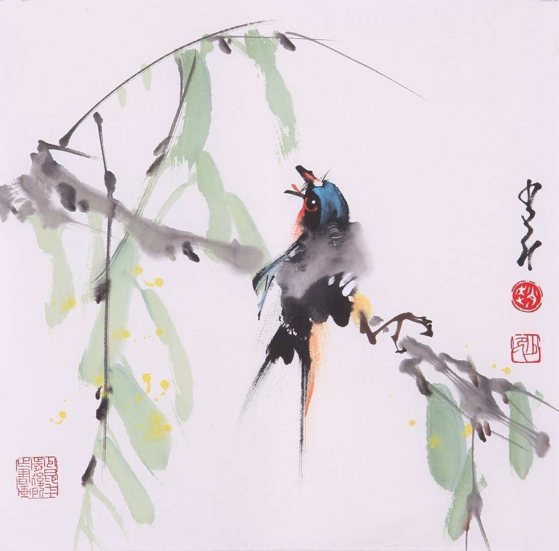 8008: Very fine chinese painting by Zhao Shaoang