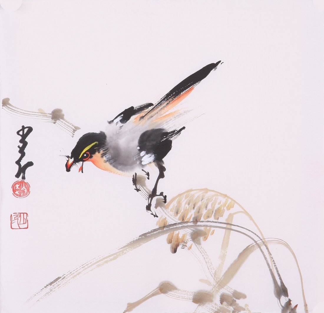 8009: Very fine chinese painting by Zhao Shaoang
