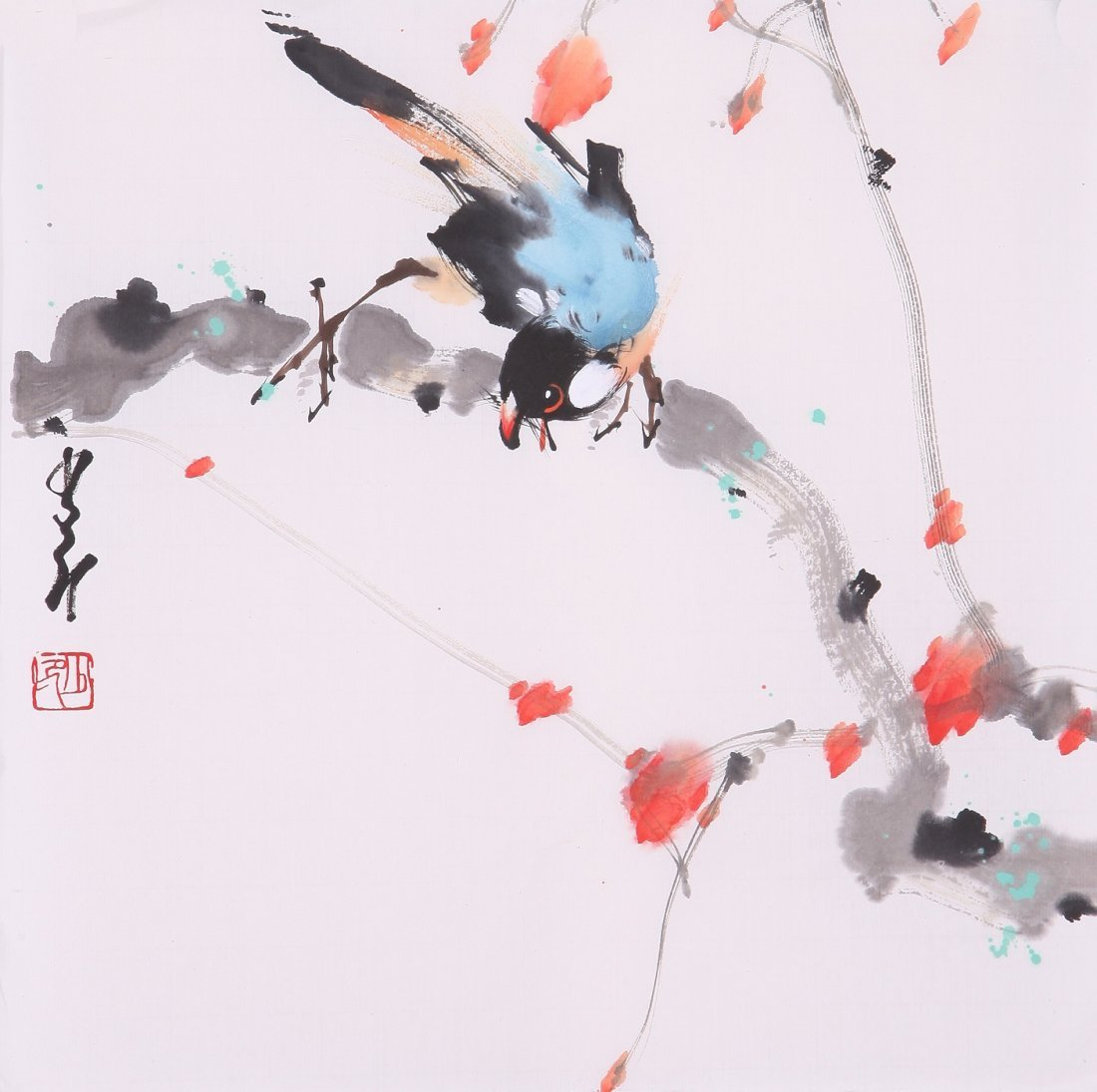 8010: Very fine chinese painting by Zhao Shaoang