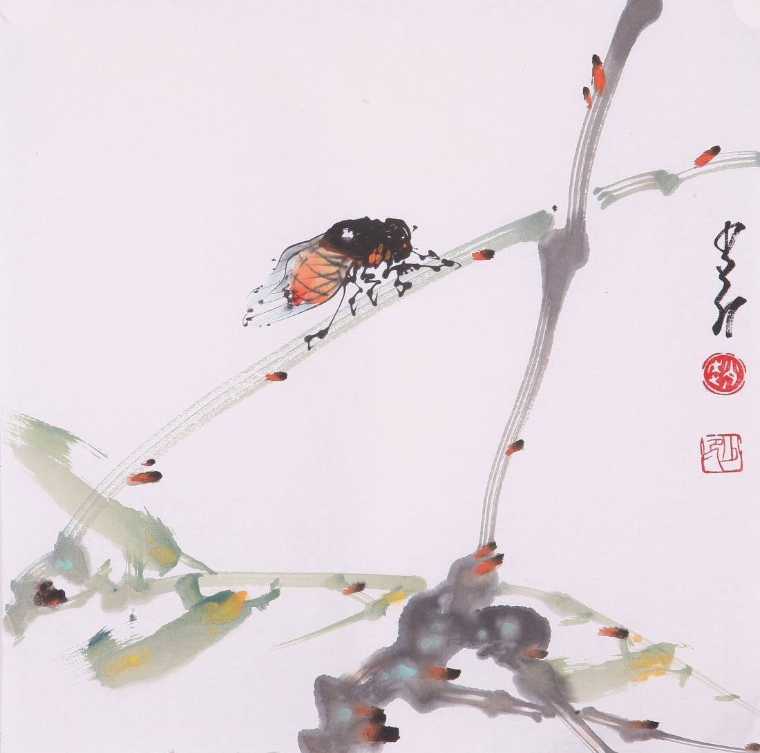8011: Very fine chinese painting by Zhao Shaoang