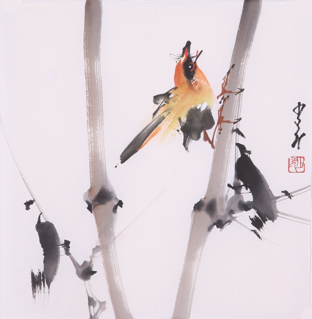 8013: Very fine chinese painting by Zhao Shaoang