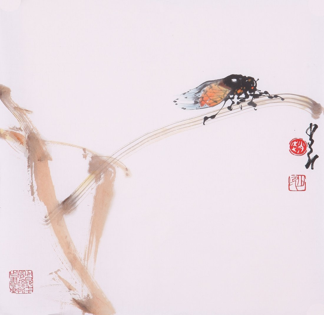 8014: Very fine chinese painting by Zhao Shaoang