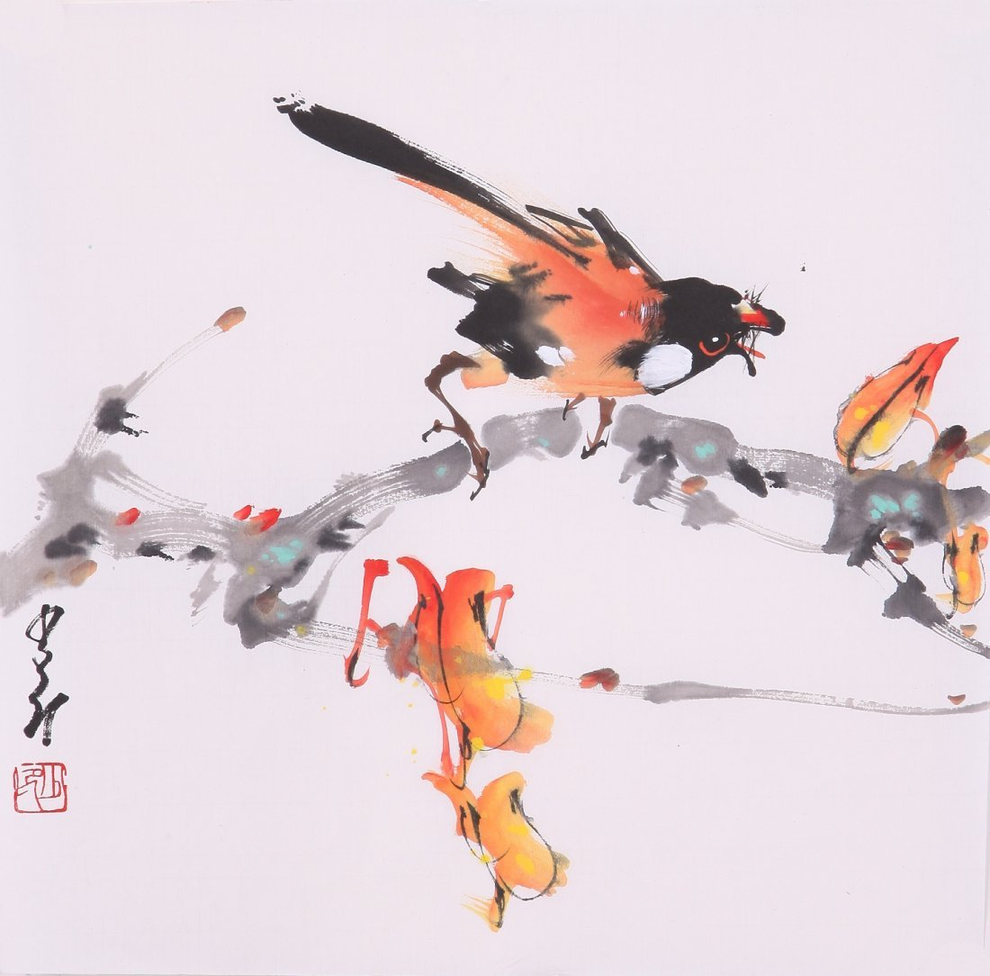 8015: Very fine chinese painting by Zhao Shaoang