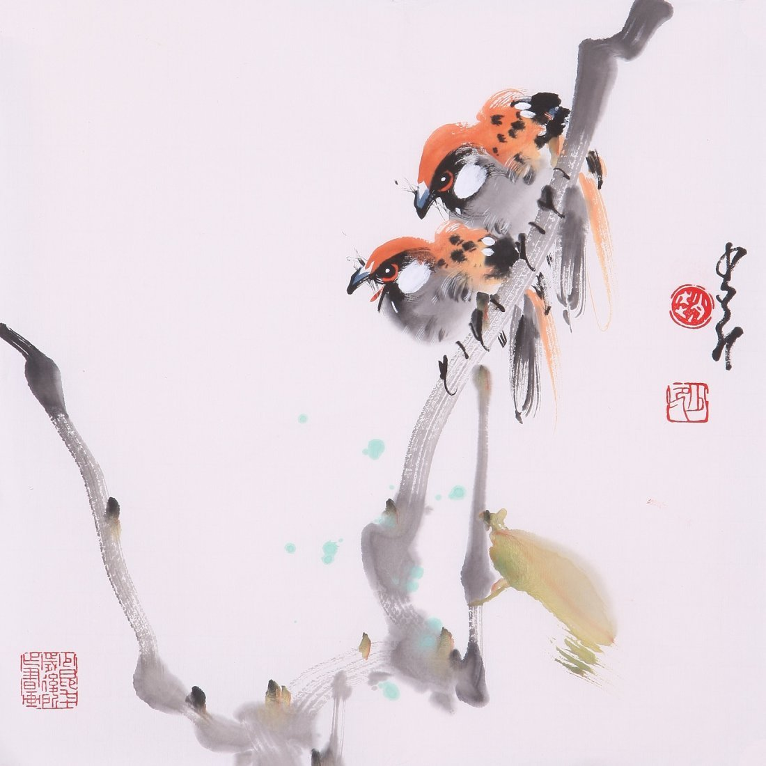 8018: Very fine chinese painting by Zhao Shaoang