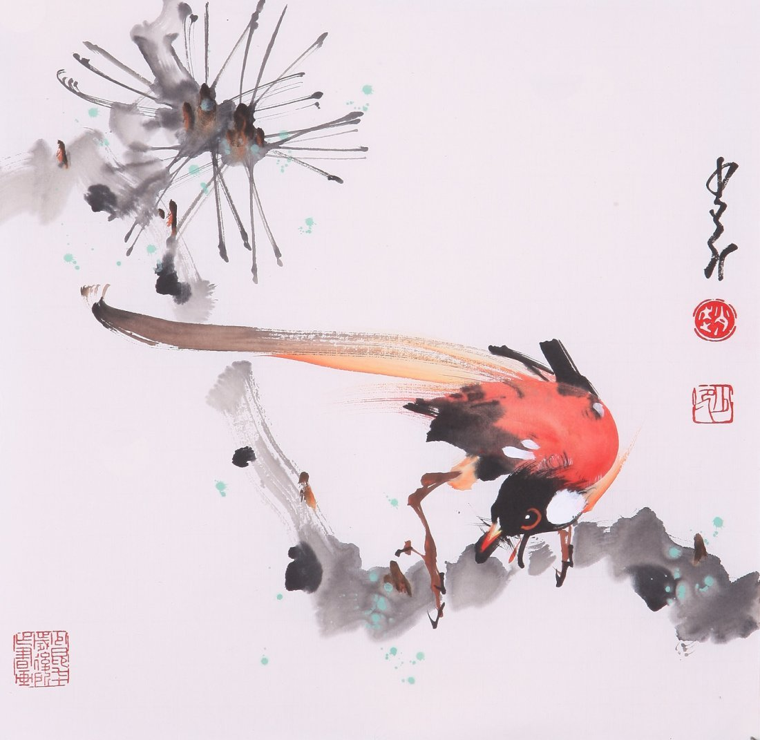 8019: Very fine chinese painting by Zhao Shaoang
