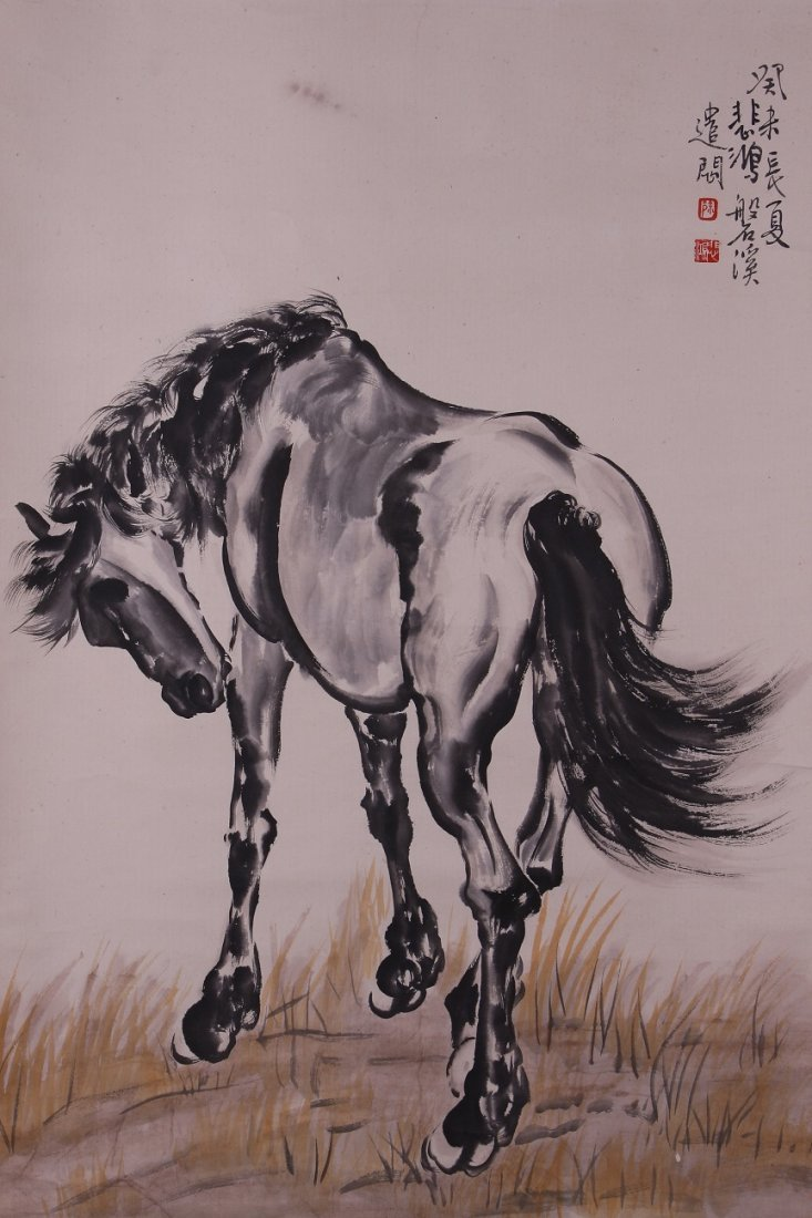 8076: Very fine chinese painting by Xu Beihong