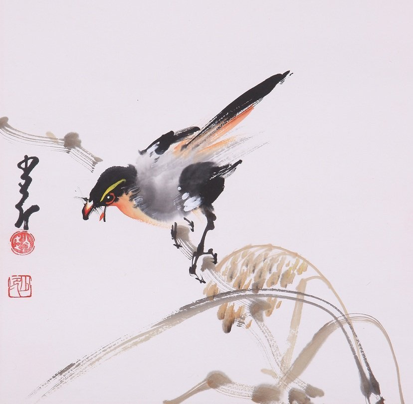9003: A very fine Chinese painting by Zhoa Shaoang