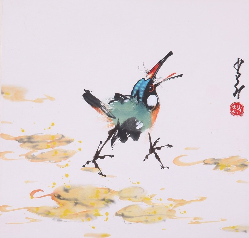 9004: A very fine Chinese painting by Zhoa Shaoang