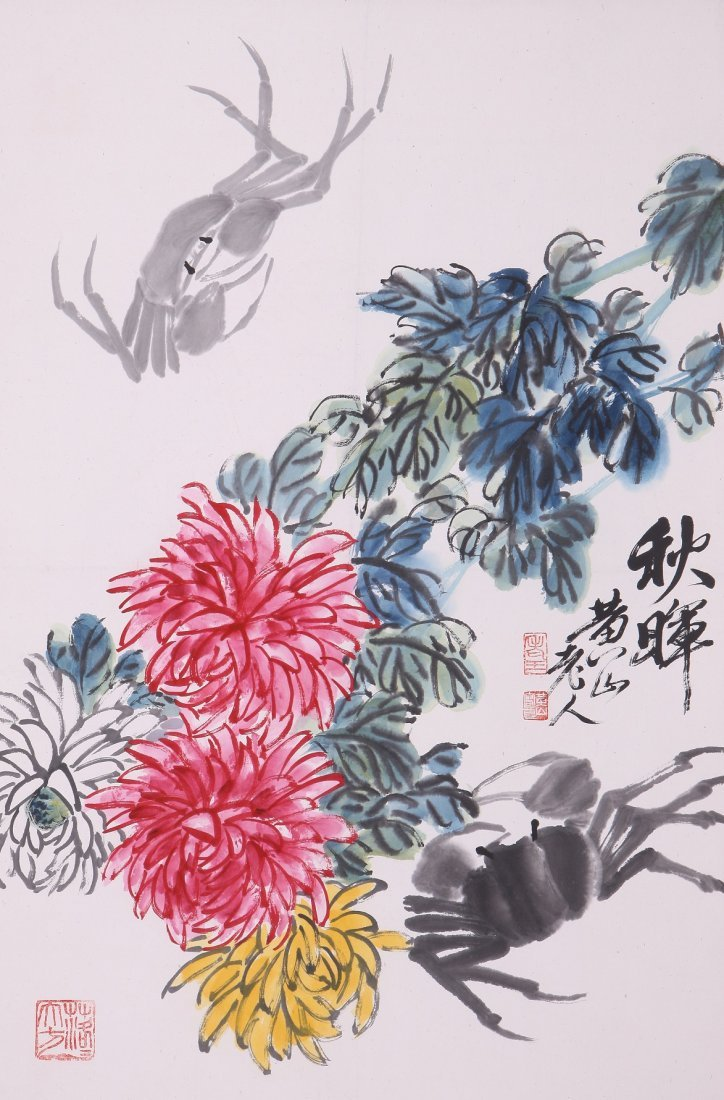 9016: A very fine Chinese painting by Wang Tianchi