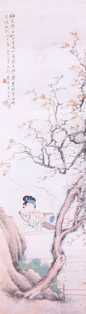 1001: A very fine Chinese scroll painting attributed to