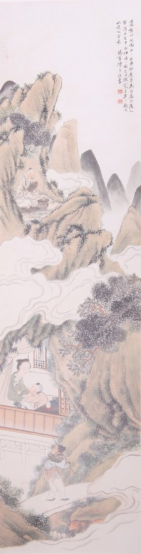 1008: A very fine Chinese scroll painting attributed to