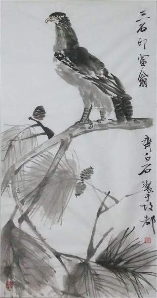 A very fine chinese painting by Qi Baishi