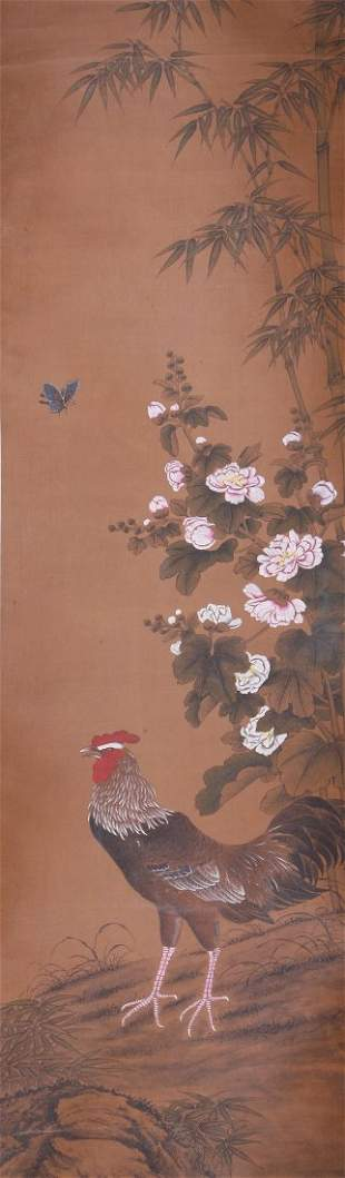A very fine painting by Wu Kuan Ming Dai