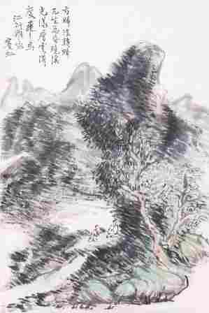 A very fine painting by Huang Binhong