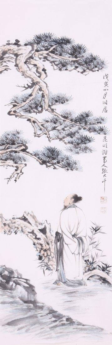 1012: A very fine painting  by Zhan Daqian