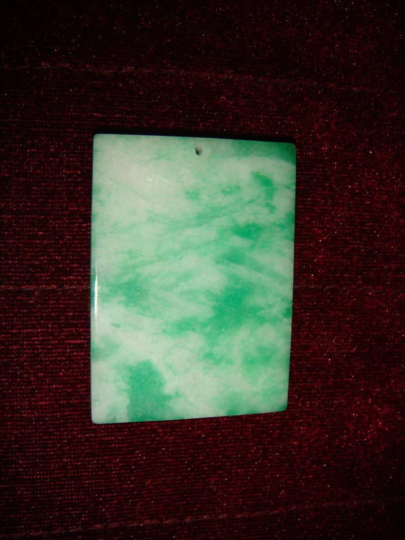Chinese Carved Jadeite of Pendant Plate