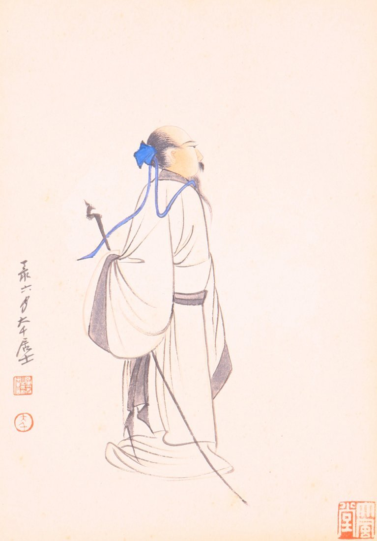 very fine chinese painting by Zhang daqian