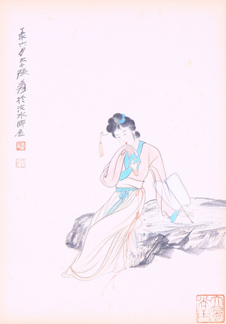 A very fine Chinese painting  by Zhang Daqian