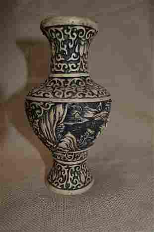 Finely carved vase
