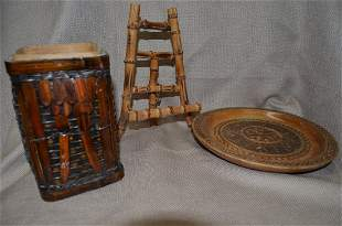 Collection of wooden items