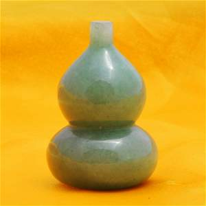 Chinese carved double vase jade
