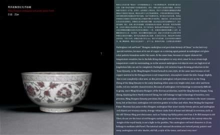 Ming Hongwu underglaze red peony grains bowl