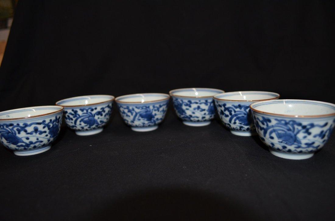 Set of 6 tea cups