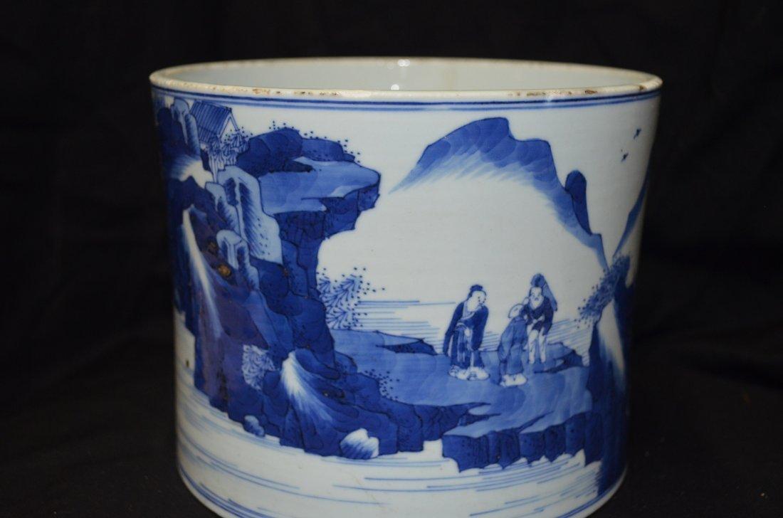 Blue and White Brush Pot