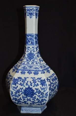 Chinese hexagonal vase
