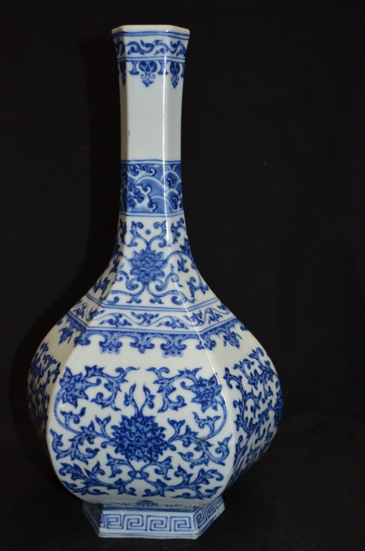 Chinese hexagonal vase