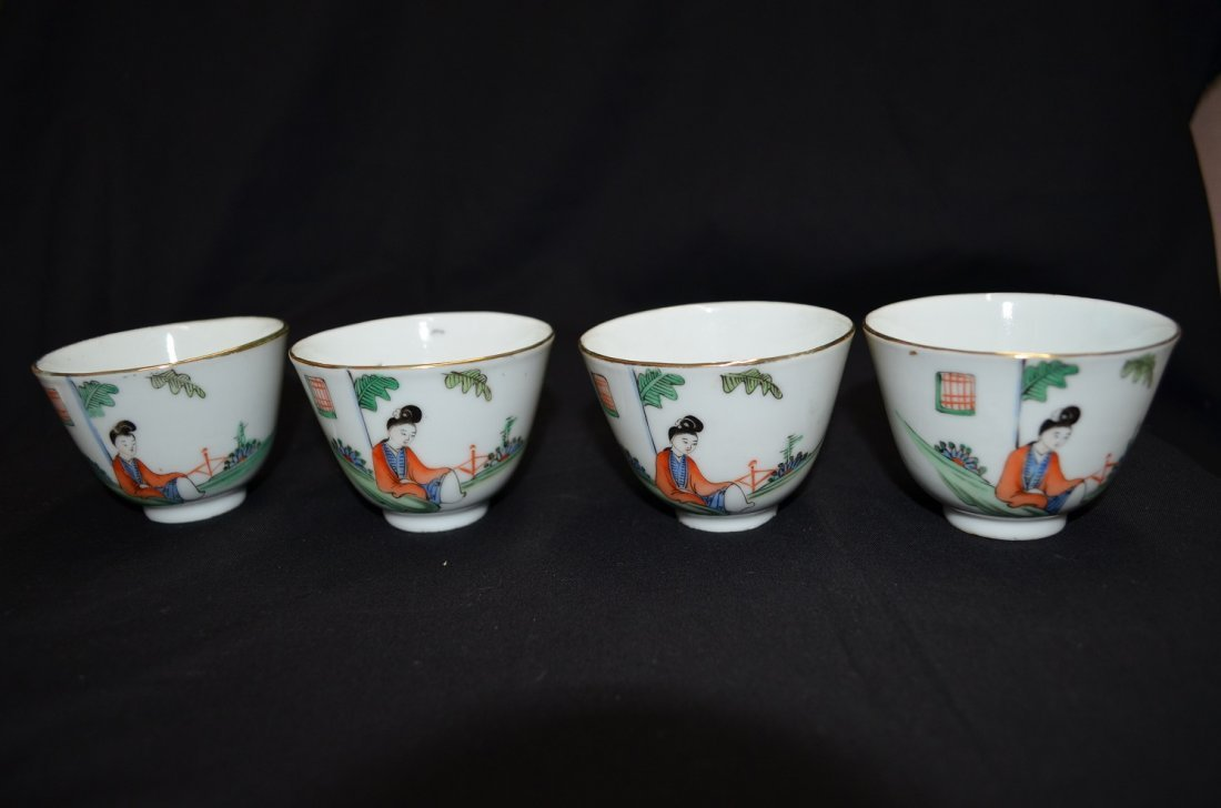 Set of Chinese tea cup