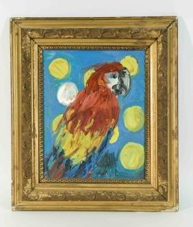 Hunt Slonem (american 1951- ) Oil On Canvas