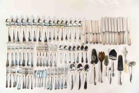 GROUPING OF SILVER FLATWARE INCL. CHRISTOFLE