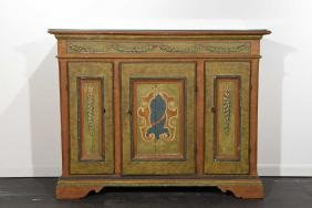 PAINT DECORATED SIDEBOARD CABINET