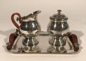 ARGENTINEAN SILVER PLATE MODERN COFFEE SERVICE