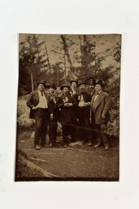 ANTIQUE CIVIL WAR SOLDIERS TIN TYPE PHOTO