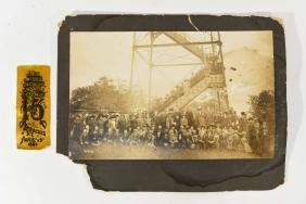 ANTIQUE GETTYSBURG PHOTO AND RIBBON