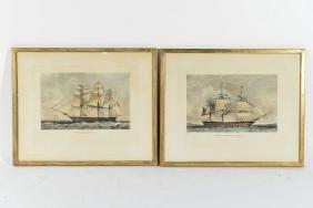 (2) N. FIELDING SHIP PRINTS