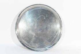 LARGE HAMMERED PEWTER CHARGER