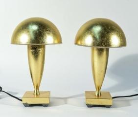 PAIR OF GEORGE RAUSTIACA GILT TABLE LAMPS