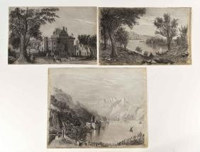 (3) 19TH CENTURY DRAWINGS BY E. E. LAYD