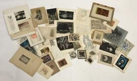 MISC GROUPING OF PRINTS /ETCHINGS