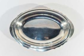 POOLE STERLING SILVER SERVING DISH