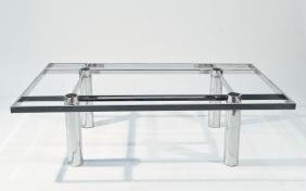 MID-CENTURY KNOLL CHROME COFFEE TABLE BASE