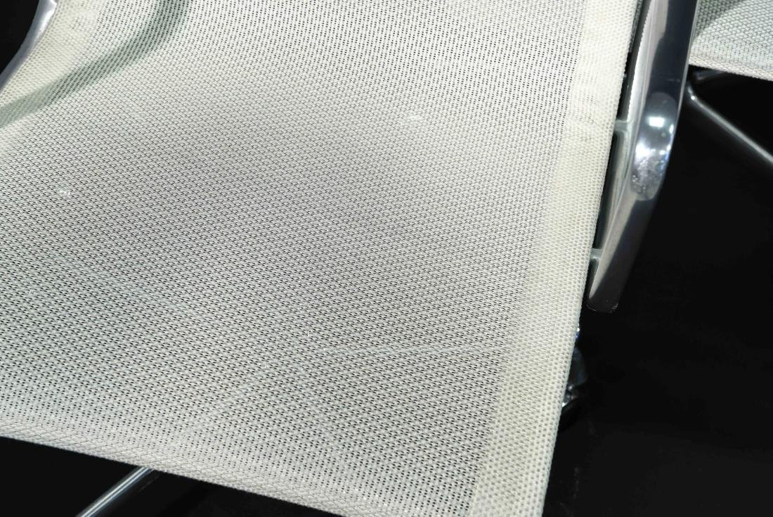 (8) EAMES ALUMINUM GROUP ARMCHAIRS W/ MESH SEATS - 2