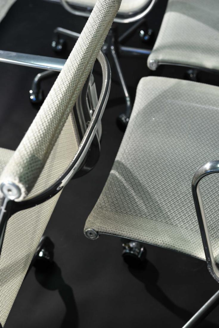 (8) EAMES ALUMINUM GROUP ARMCHAIRS W/ MESH SEATS - 6