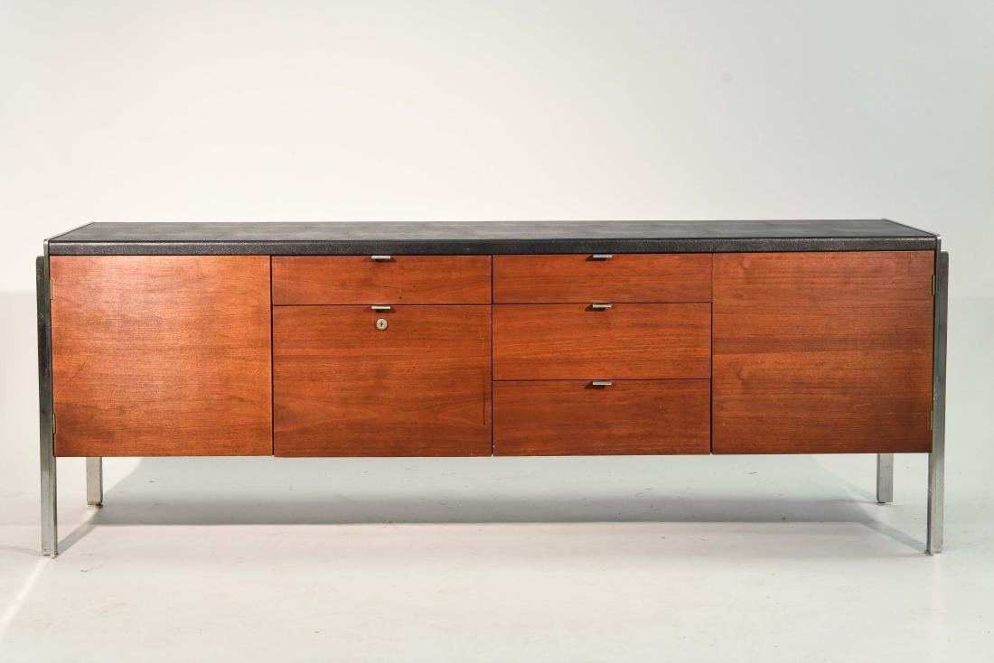 STOW & DAVIS LEATHER TOP CREDENZA