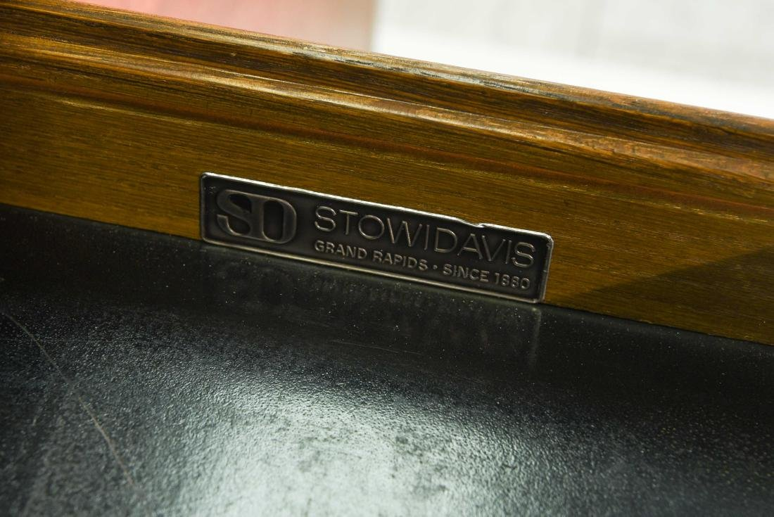 STOW & DAVIS LEATHER TOP CREDENZA - 4