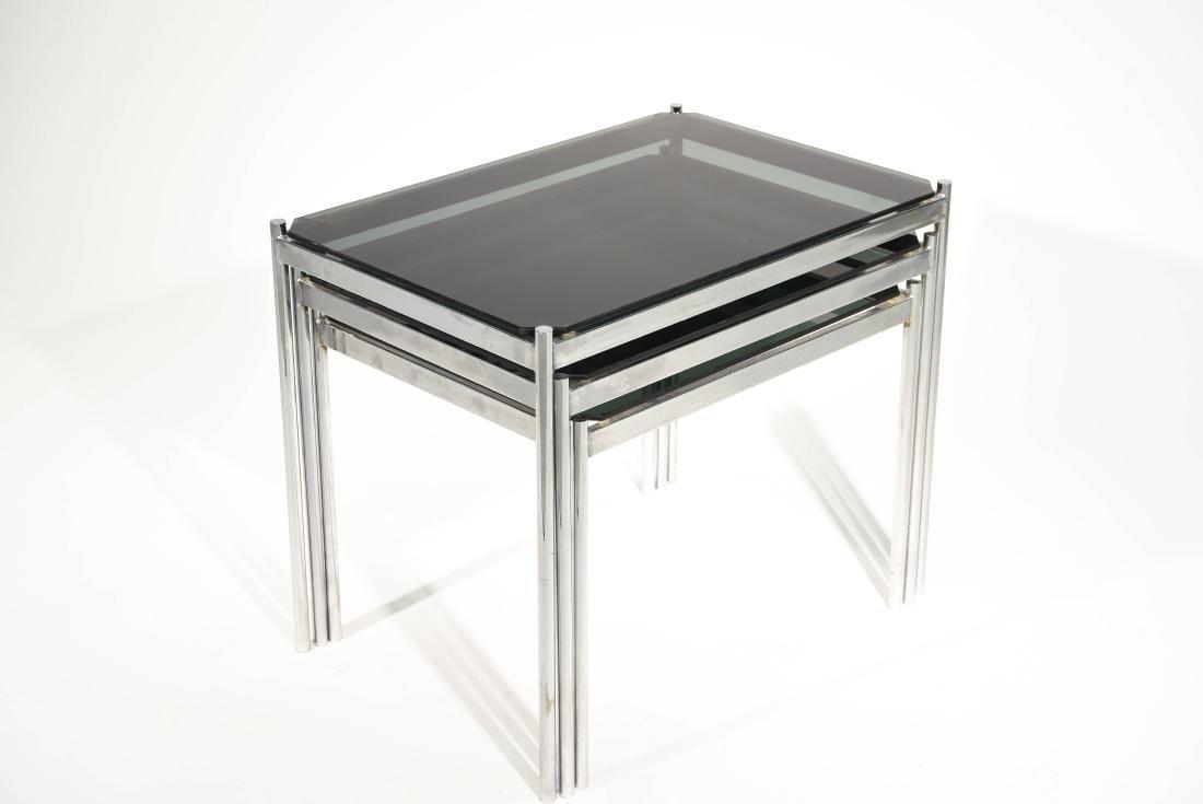 MID CENTURY MODERN CHROME TABLE GROUPING - 10